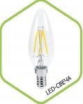 Лампа светодиодная LED-СВЕЧА-PREMIUM 5.0Вт 160-260В Е27 4000К 450Лм прозрачная ASD